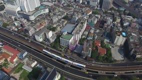 Estrada Tailândia de Zangão-Banguecoque-sathon video estoque