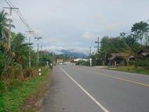 Estrada tailandesa do país fotografia de stock
