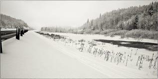 Estrada tempestade de 17 invernos Imagem de Stock Royalty Free