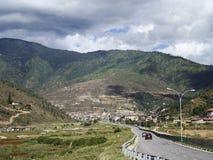 A estrada a Thimphu Imagens de Stock