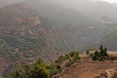 Estrada Tizi-n-Tichka Marrocos Foto de Stock
