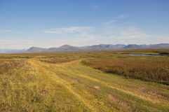 Estrada todo-terreno à tundra Foto de Stock Royalty Free