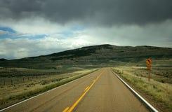 Estrada tormentoso Fotos de Stock