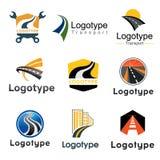 Estrada, transporte Grupo de elemento abstrato de moldes do logotipo Fotos de Stock Royalty Free