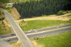 Estrada transversaa, airography Fotos de Stock