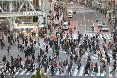 Estrada transversaa do hachiko de Tokyo Imagens de Stock Royalty Free