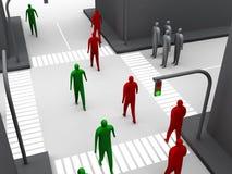 Estrada transversaa humana #3 Imagens de Stock