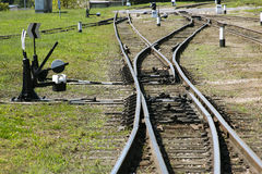 Estrada transversaa Railway Imagens de Stock Royalty Free