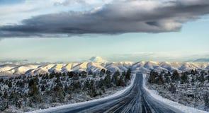 Estrada traseira em umas férias em Oregon oriental Fotografia de Stock Royalty Free