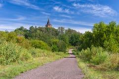 Estrada a um templo Fotografia de Stock Royalty Free