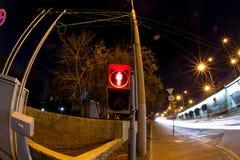 Estrada urbana da noite da cidade Imagens de Stock Royalty Free