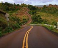 A estrada vai em?. Fotos de Stock Royalty Free