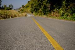 Estrada vazia com leve borrão de movimento Fotografia de Stock Royalty Free
