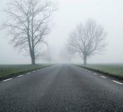 Estrada vazia no dia do outono da manhã foto de stock royalty free
