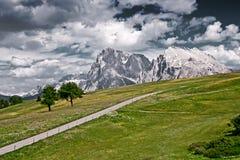 Estrada vazia nos alpes italianos Foto de Stock Royalty Free