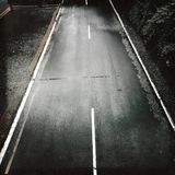 Estrada vazia vista de cima de fotos de stock