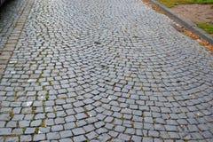 Estrada velha das pedras de pavimentação Foto de Stock Royalty Free