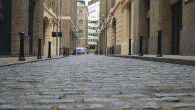 Estrada velha feita da pedra video estoque