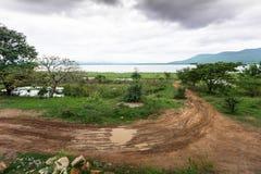 Estrada velha no reservatório Imagem de Stock Royalty Free