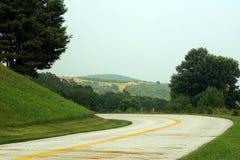 Estrada ventosa Foto de Stock Royalty Free