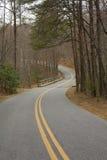 Estrada ventosa Foto de Stock