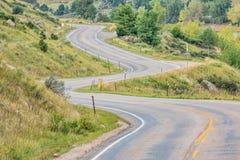 Estrada ventosa da montanha Foto de Stock