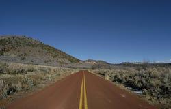 Estrada vermelha Imagem de Stock