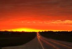 Estrada vermelha Foto de Stock Royalty Free