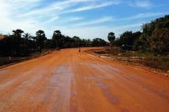 Estrada vermelha Fotos de Stock
