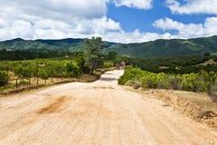 Estrada vermelha do monte Imagem de Stock Royalty Free