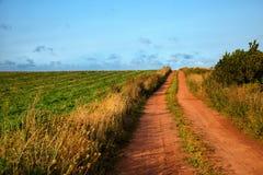 Estrada vermelha do solo Foto de Stock