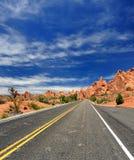 A estrada viajou menos Foto de Stock Royalty Free