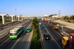 Estrada vista de cima de Fotografia de Stock