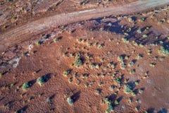 estrada 4wd em um deserto da rocha na área de Moab Imagem de Stock Royalty Free