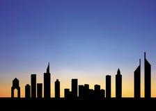 Estrada zayed Sheikh, Dubai, uae Imagem de Stock