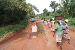 Estradas africanas fotografia de stock royalty free