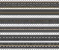 Estradas asfaltadas horizontais Imagens de Stock