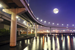Estradas da noite Imagens de Stock