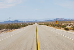 Estradas da perspectiva Fotografia de Stock Royalty Free