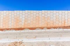 Estradas das paredes dos desenvolvimentos da construção Fotografia de Stock