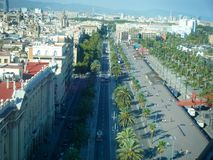 Estradas de Barcelona Fotografia de Stock Royalty Free