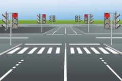 Estradas de cidade ilustração royalty free