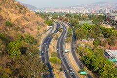Estradas de cidade caracas foto de stock