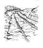 Estradas de ferro do grego clássico ilustração royalty free