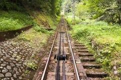 Estradas de ferro do teleférico, Koya San, Japão Imagens de Stock