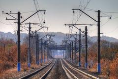 Estradas de ferro electrificadas Foto de Stock