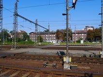 Estradas de ferro em Checo Imagens de Stock Royalty Free