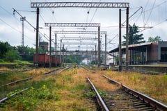Estradas de ferro Georgian em Kutaisi Foto de Stock