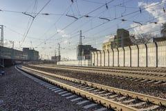 Estradas de ferro Novosibirsk Fotografia de Stock