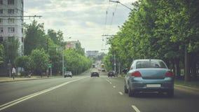 Estradas de Minsk Fotos de Stock Royalty Free